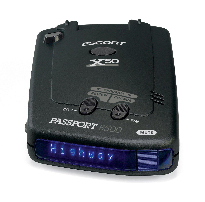 Escort Passport 8500X50 Black Radar Detector, Blue Display