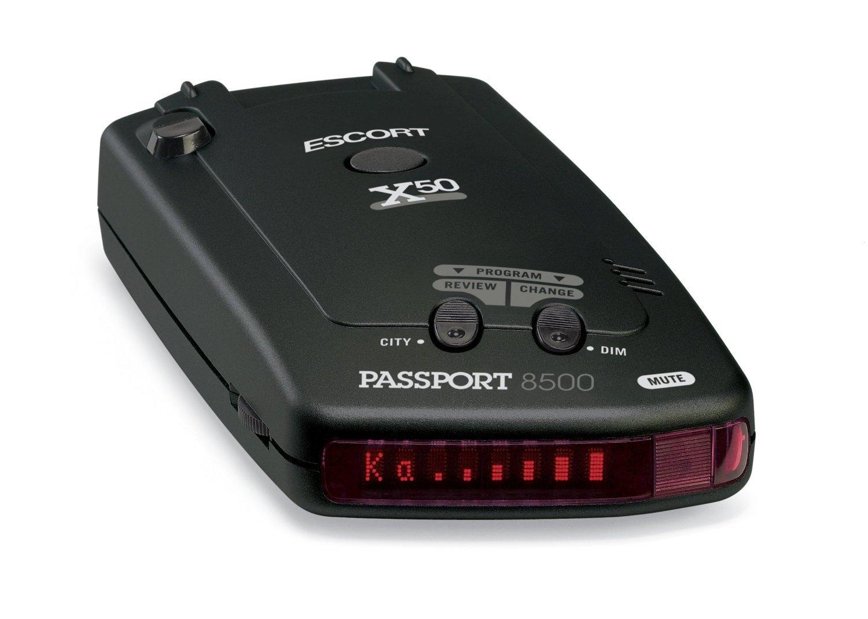 Escort Passport 8500X50 Black Radar Detector Blue Display