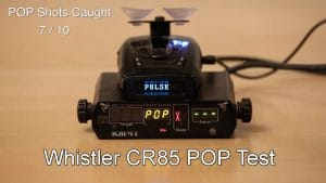 whistler cr85 pop test