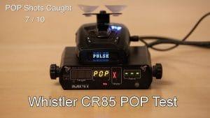 whistler cr85 pop test
