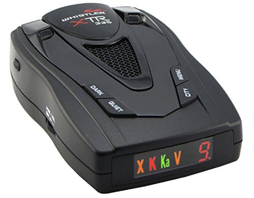 whistler xtr-335 radar detector image review