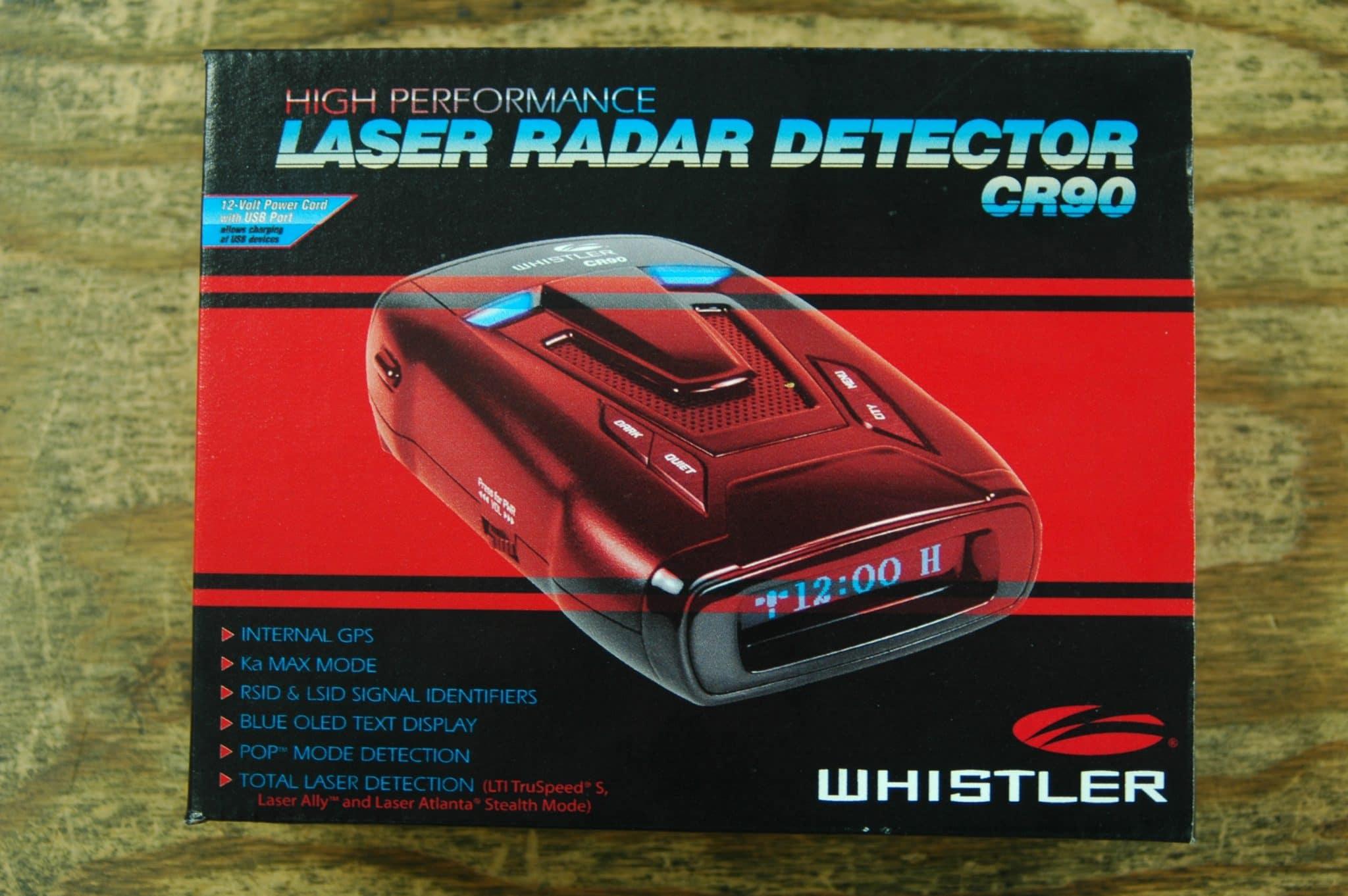 whistler cr90 laser radar detector box