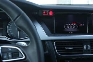 Photo of Valentine one in an Audi car