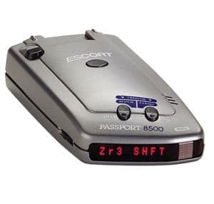 escort passport 8500 red display