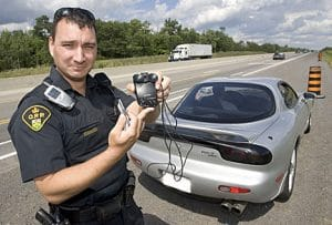 radar detector caught by officer