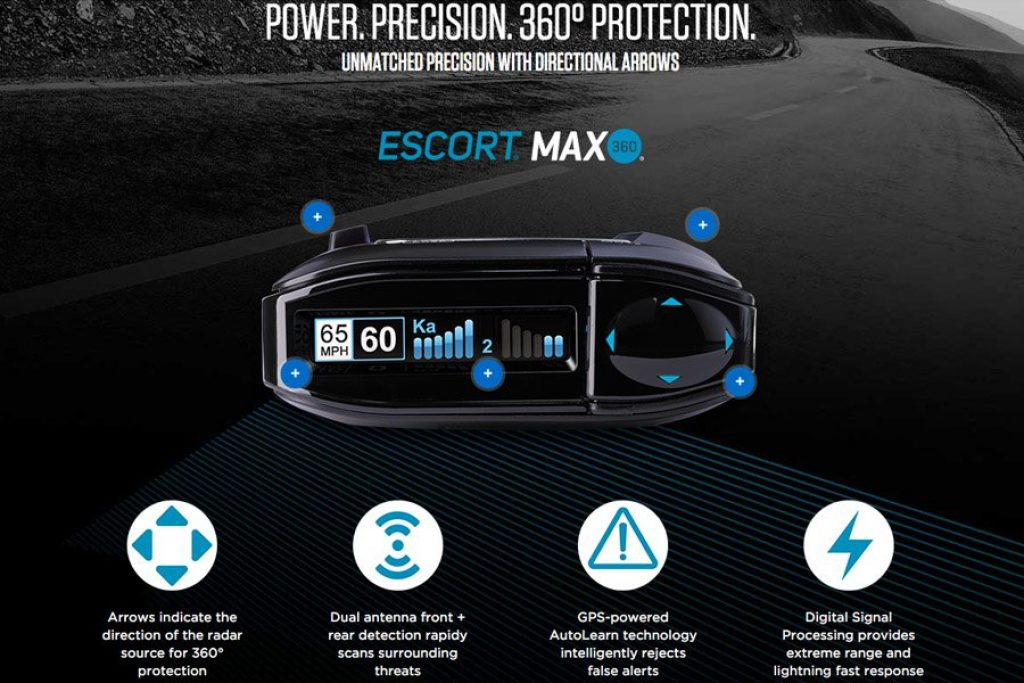 escort max 360 features