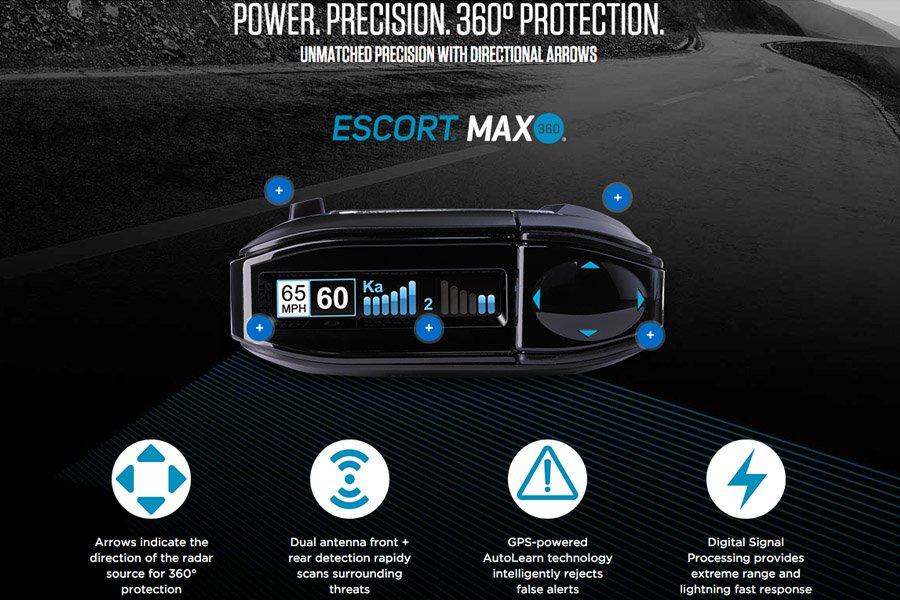 escort max 360 features