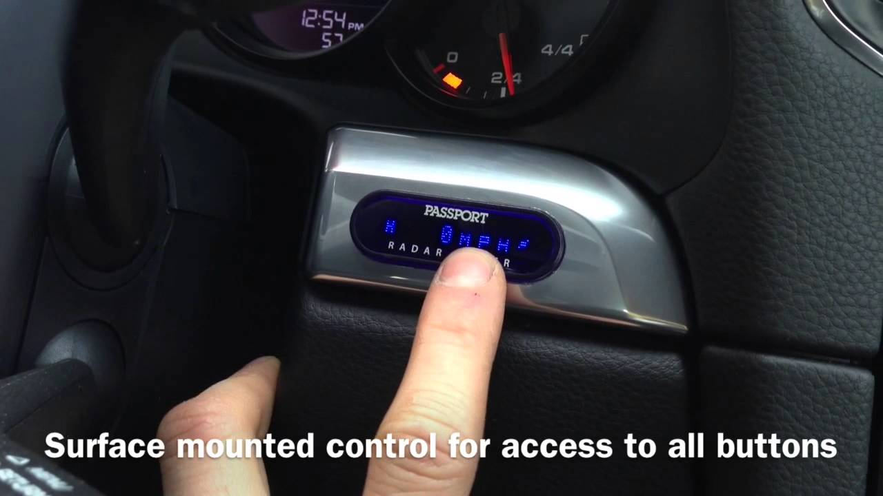 custom installed built in passport radar detector