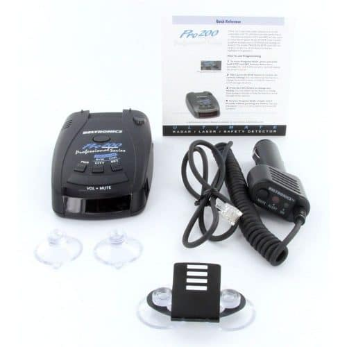 A photo of the Betronics 200 with accessories that come with it
