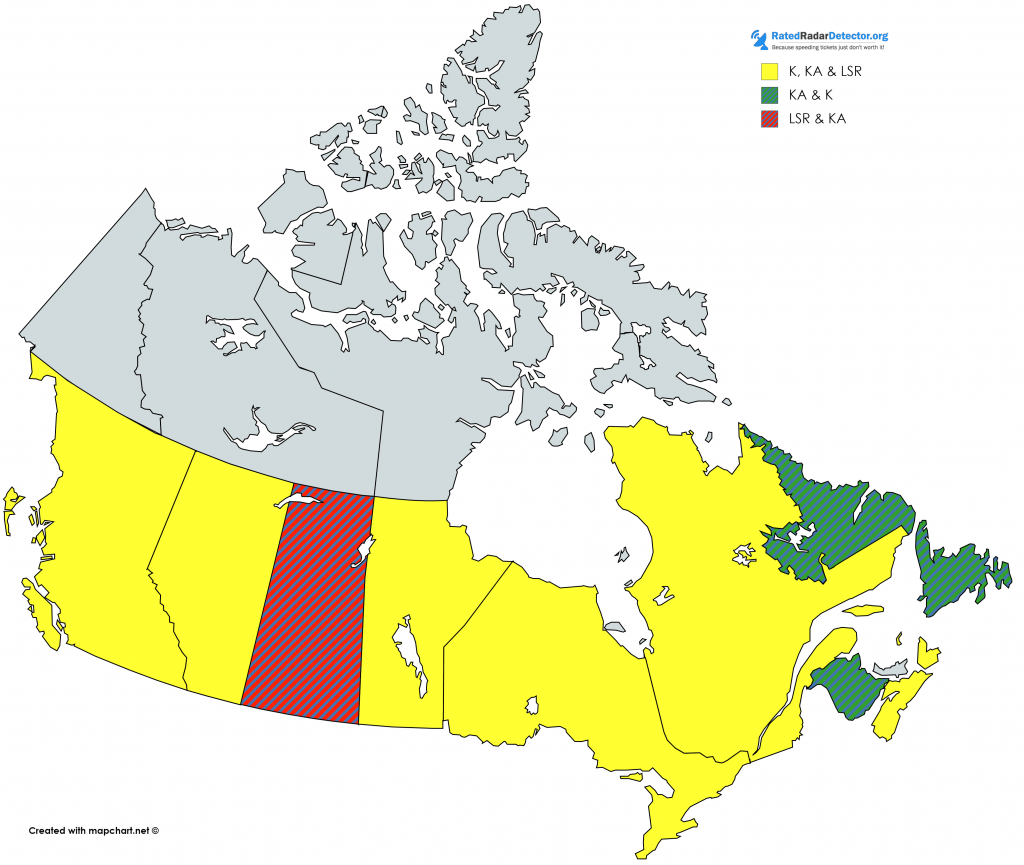 canada radar bands map