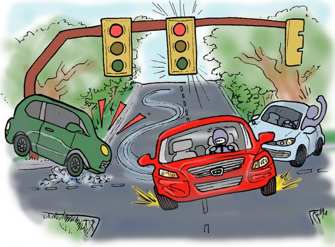 reckless driving cartoon