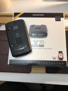 escort passport x70 with package