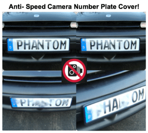anti camera number plate cover