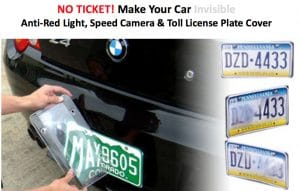 anti speed camera license plate cover