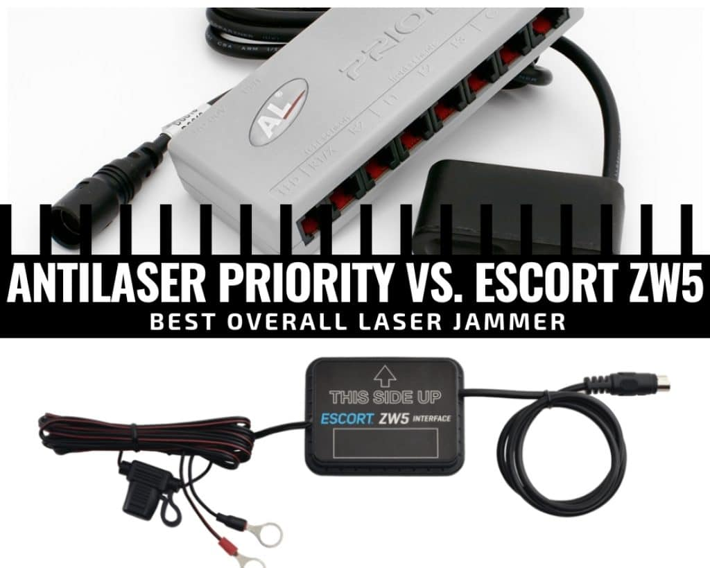 Laser jammers compared: antilaser priority and Escort ZW5