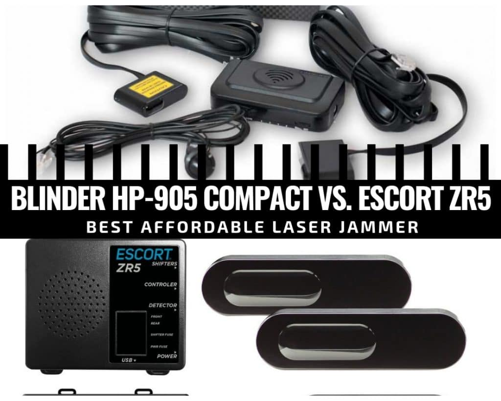Laser jammers comparison: Blinder hp-905 compact vs Escort ZR5
