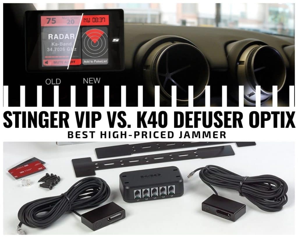 Stinger VIP vs K40 laser jammers comparison