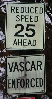 VASCAR enforced sign