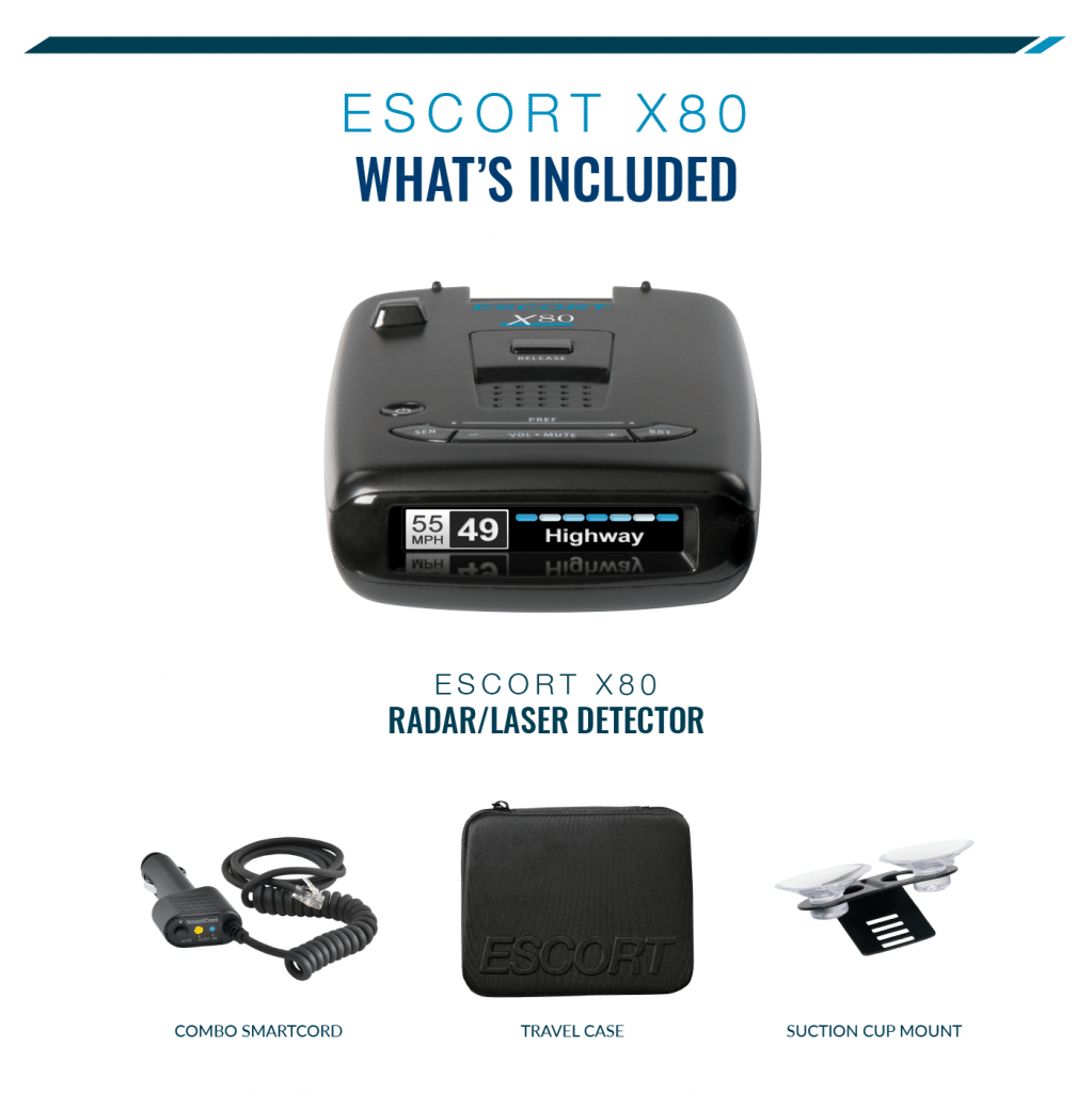 escort x80 whats included