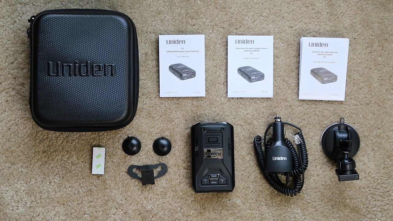 uniden r1 & r3 with accessories