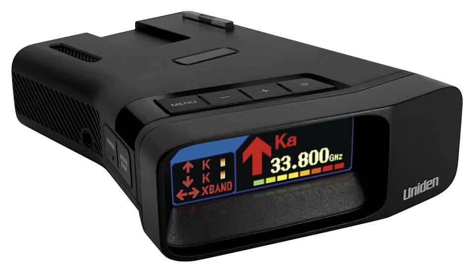 photo of the latest radar detector made by Uniden