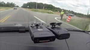 Photo of Escort Solo 4 mounted on the windshield