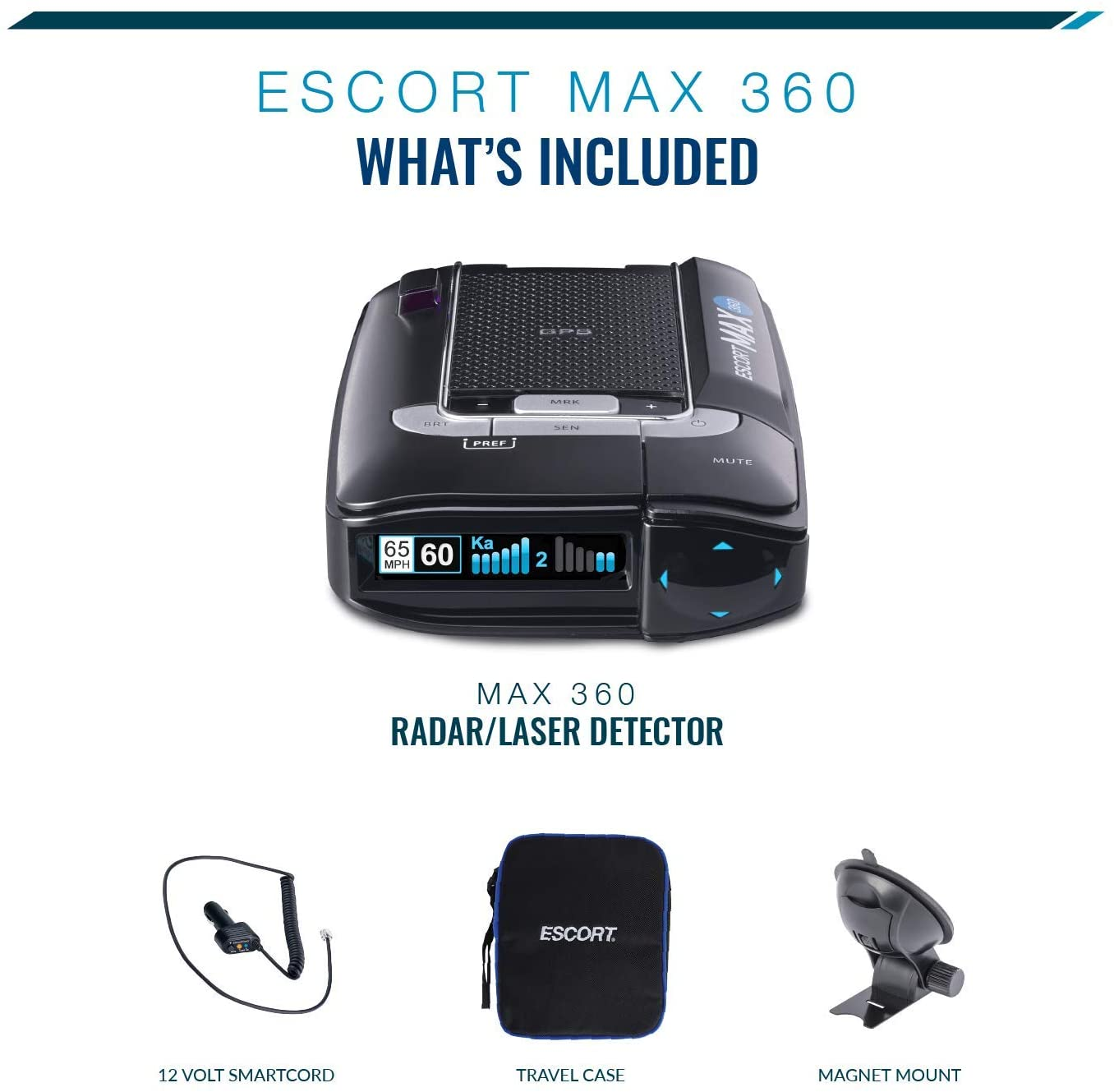Escort Max 360 together with the accessories that comes with a purchase