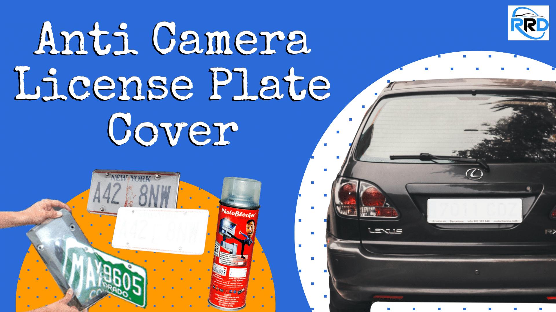 Anti Camera License Plate Cover