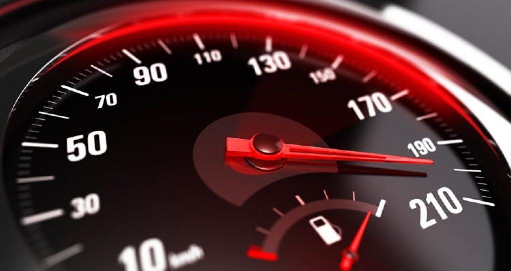 Speeding meter