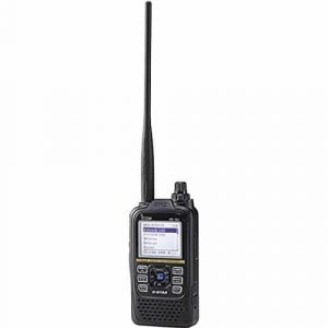 photo of an Icom ID-51A Plus2 with an extended antenna