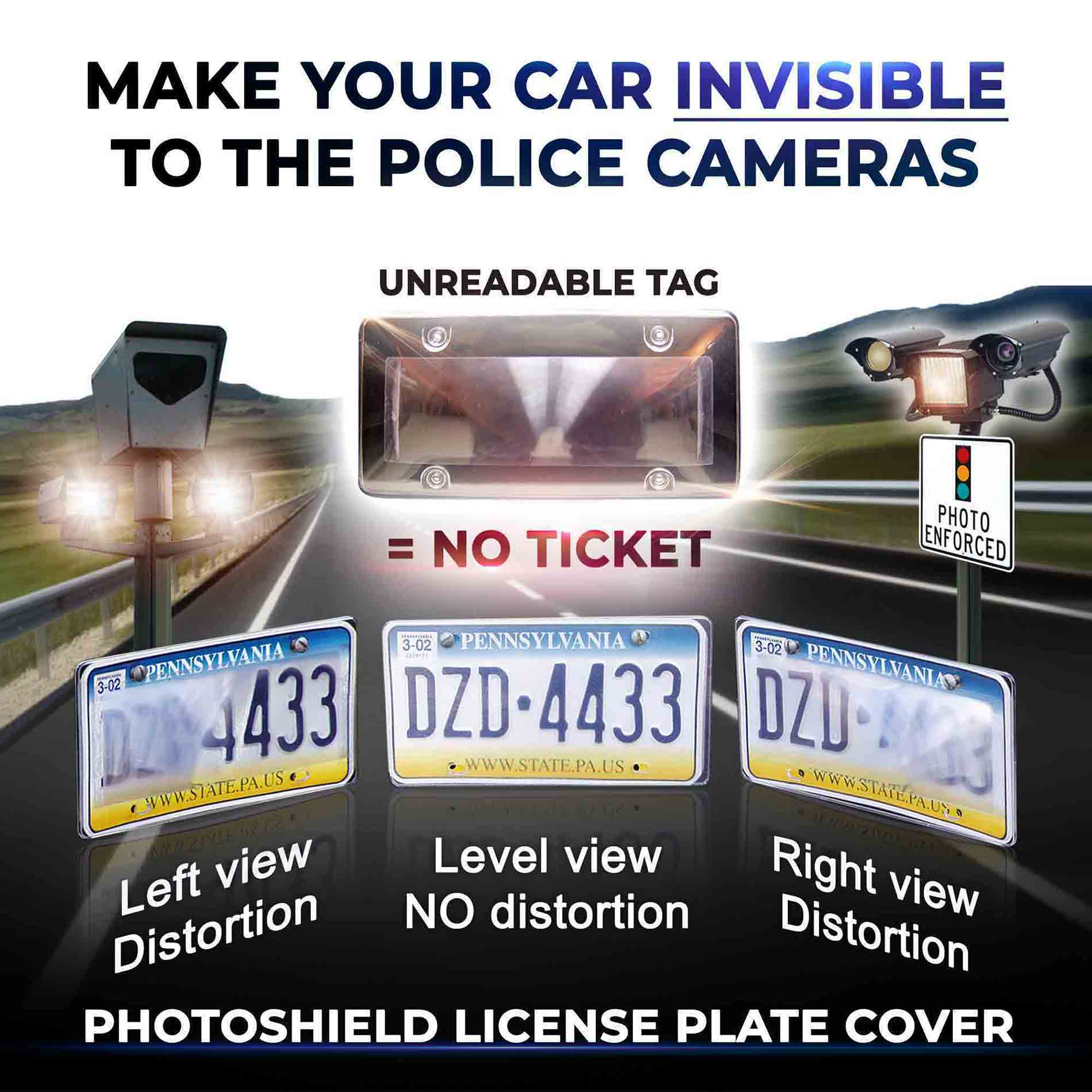 PhotoShield License Plate Cover Anti Speed Camera Cover Tapaffiliate v2