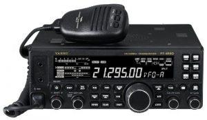 photo of a Yaesu Original FT-450D amateur radio facing front