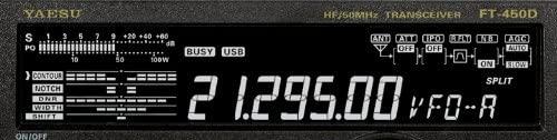 Yaesu FT-450D display