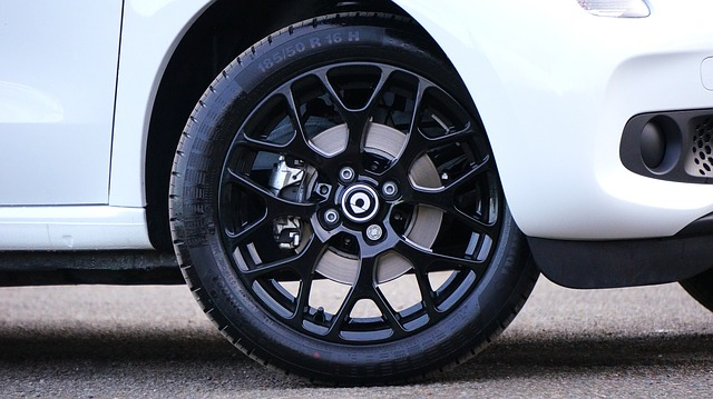 Photo of a car tire