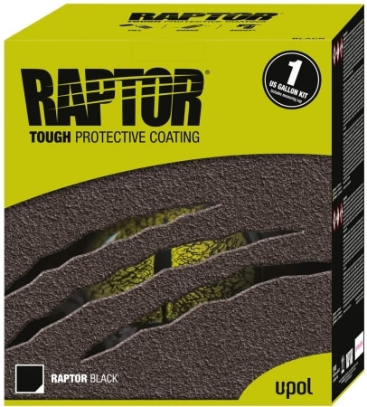 U-POL Raptor Black Urethane Spray-On Truck Bed Liner