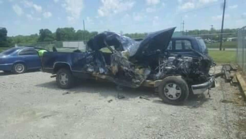 truck crashed in accident