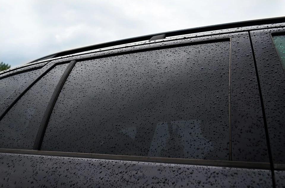 tinted car window