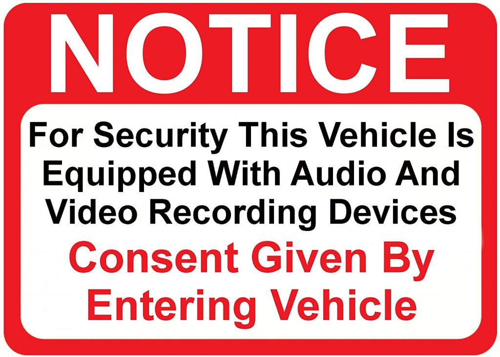 camera recording sign