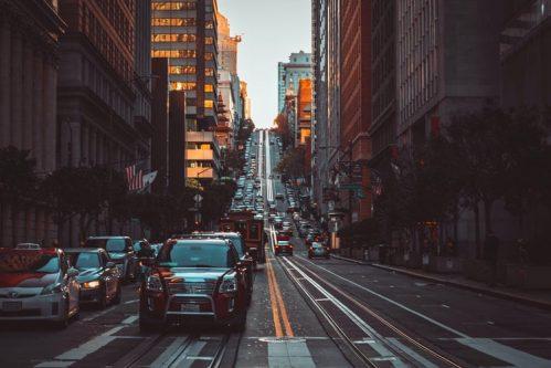 Cars in a street