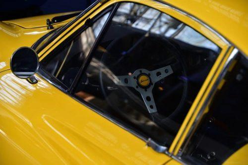 Yellow car close up